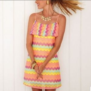 Lilly Pulitzer Laya Knit Gauzy Chevron Dress XL